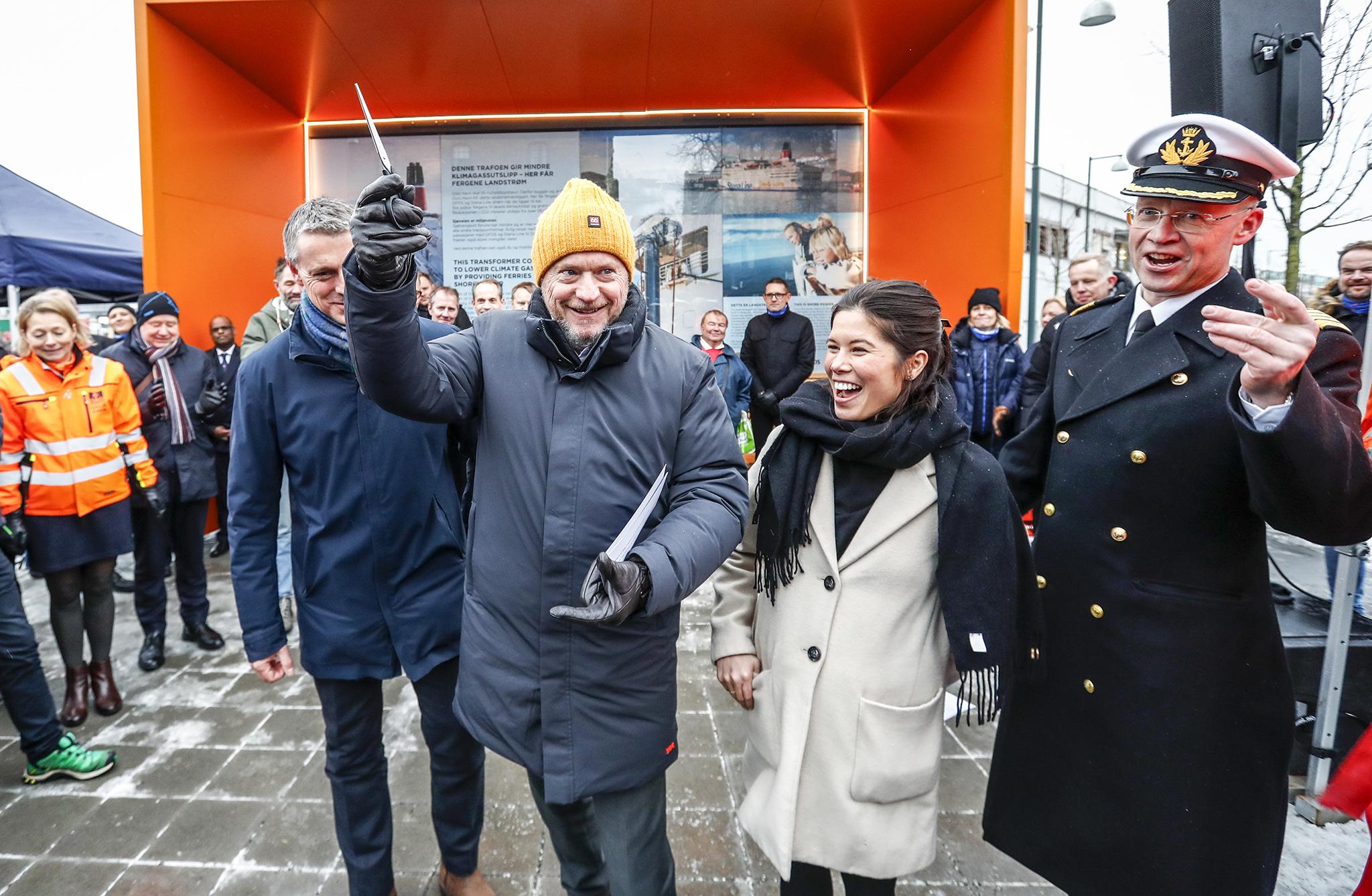 Åpning av Oslo havns nye landstrømanlegg.